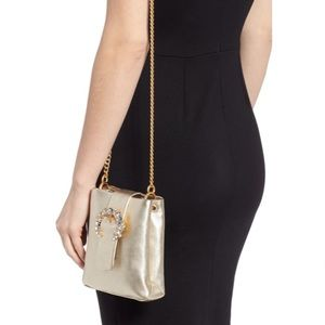 Tory Burch Embellished Leather SmartphoneCrossbody